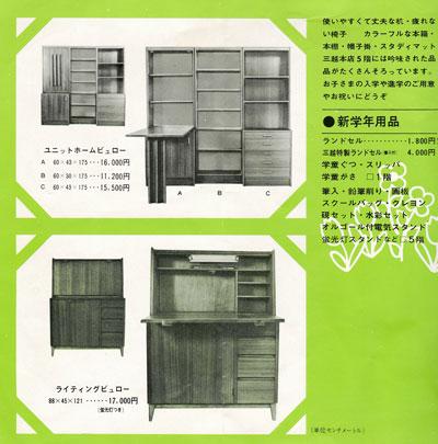 当社で製造していた学習机。